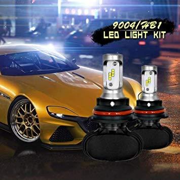 Uniqus 2 PCS 9004 IP65 Waterproof White Light 12 CSP LED Car Headlight Bulb, 9-36V   18W, 6000K   2000LM