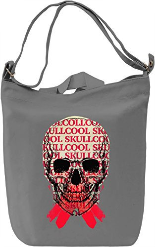 Cool Skull Borsa Giornaliera Canvas Canvas Day Bag| 100% Premium Cotton Canvas| DTG Printing|