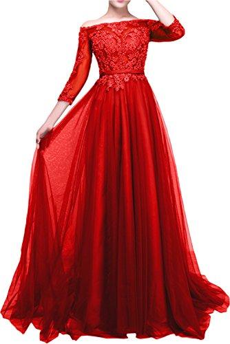 La Langarm Dunkel Spitze mia Partykleider Braut Promkleider Rot Jugendweihe Gruen Damen Abendkleider Kleider rqwrZA4