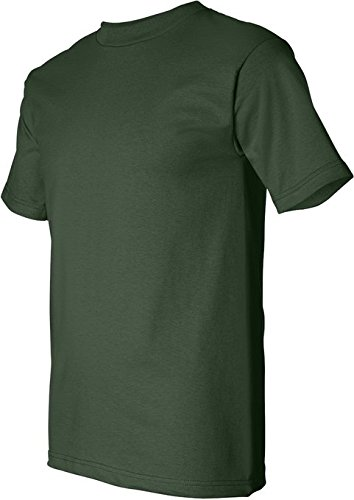 Bayside Adult Short-Sleeve Cotton Tee - Forest Green - L (Bayside Adult Tshirt)