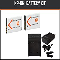 NP-BN1 Replacement Rechargable Battery and Mini Rapid Charger for Sony Cyber-shot DSC-W510, DSC-W530, DSC-W550, DSC-W560, DSC-W570