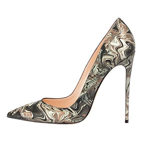 EKS - Zapatos de Tacón Mujer Blanco - blanco