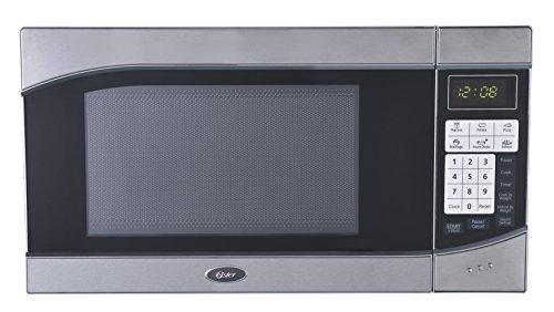 Oster OGH6901 0.9 Cubic Feet 900-Watt Countertop Digital Microwave Oven, Stainless Steel/Black