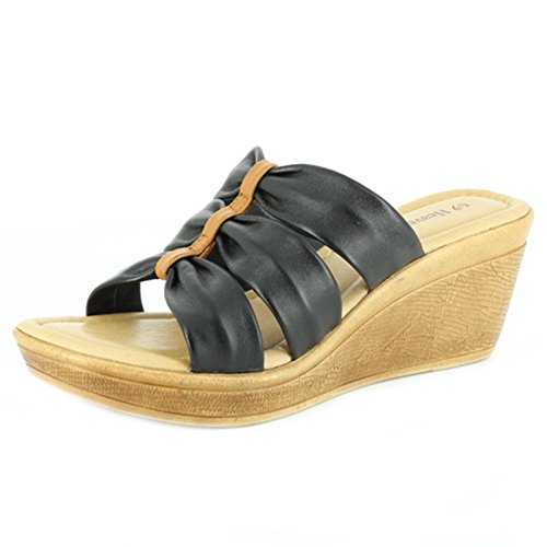 Haevenly Feet Sugar Sandals Black