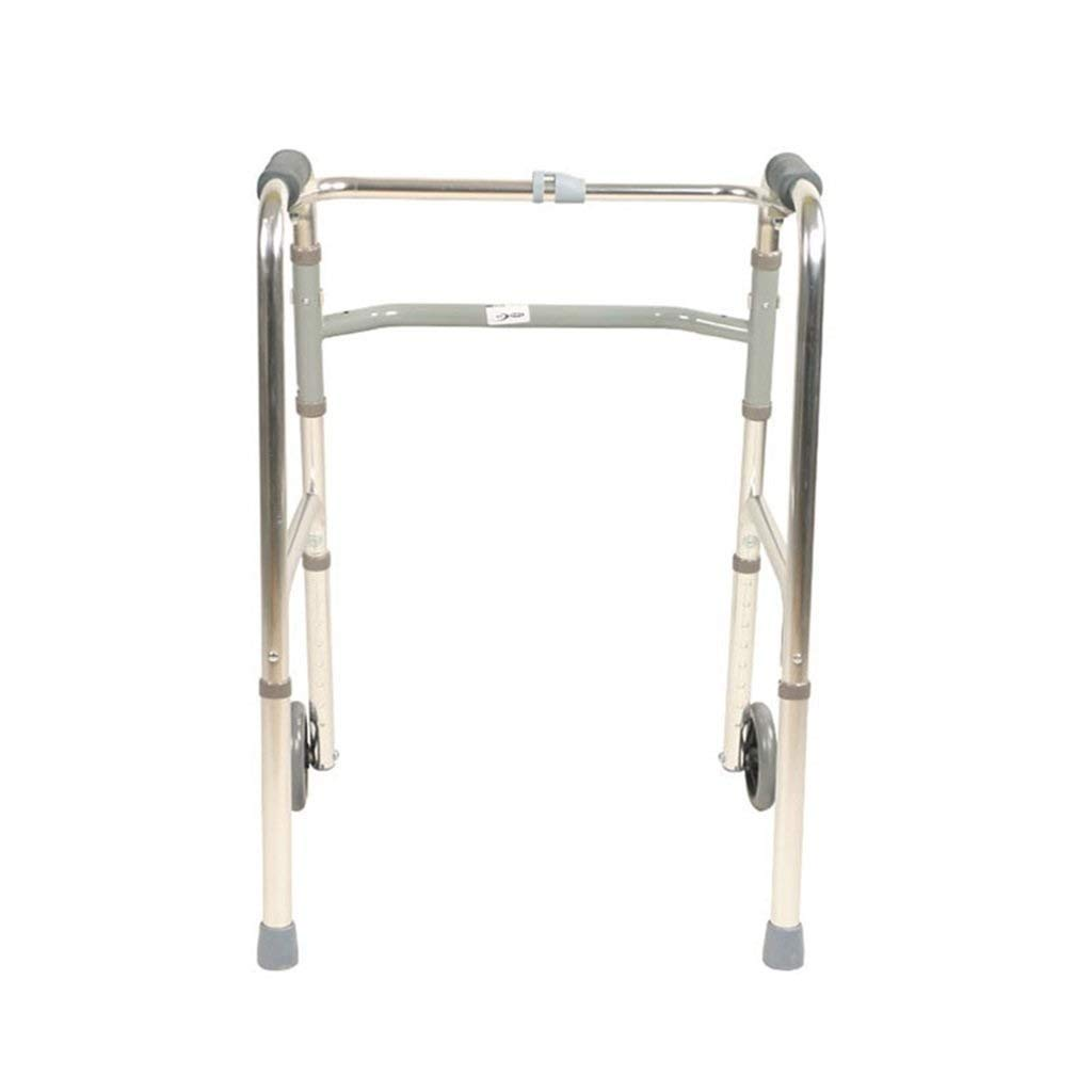 YFQ Folding Walking Frame Family Assistant Trolley Rehabilitation Training Frame Folding Roller Walker Adjustable Height Walking Frame Walker