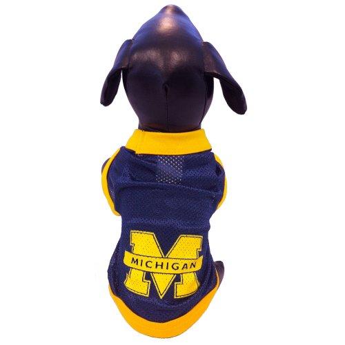 NCAA Michigan Wolverines Collegiate Athletic Mesh Dog Jersey, XX-Small - Ncaa Michigan Wolverines Jersey