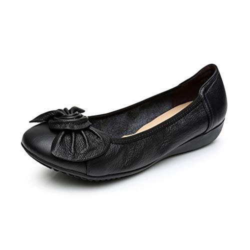 shoes bottom shoes shoes heel EU 42 flat low single shoes ballet comfortable work pregnant FLYRCX women casual shoes Bow ladies leather soft wq0Cw1PO