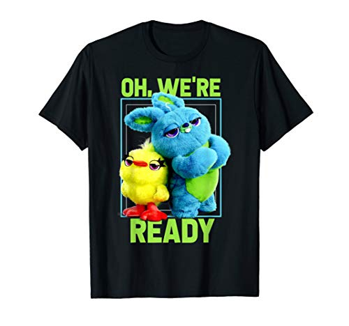 Pixar Toy Story 4 Ducky & Bunny Oh, We're Ready Graphic Tee