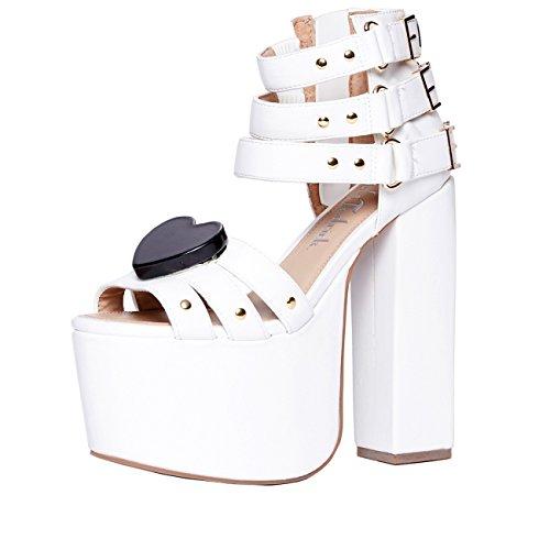 Charla Tedrick Foreva, platform wedding sandal, white