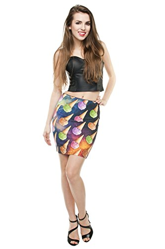 Funny Skirts Company© Impreso Faldas 3d Imprimir/Motivo/Diseño Un Tamaño De Unisex Primavera De Verano 2017 (SPACE ICE CREAM 29924)