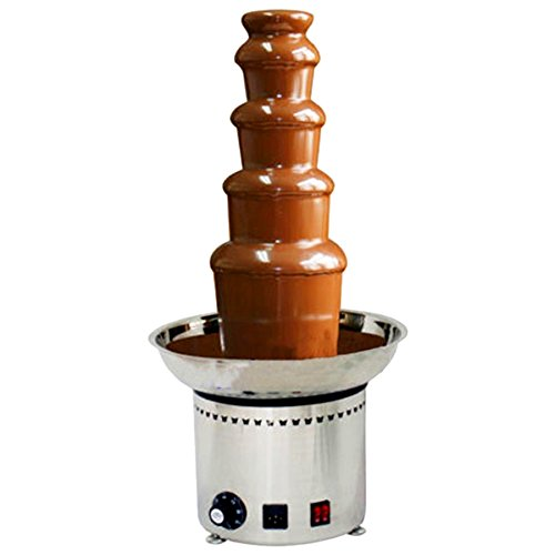 CO-Z Large Chocolate Fondue Fountain 27' 5-Tier All Stainless Steel for Big Party Wedding Hotel Wedding Punch Fountain