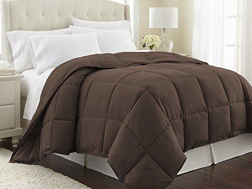 Southshore Fine Linens - Vilano Springs - - Down Alternate Weight Comforter - Chocolate Brown - FULL / QUEEN (Queen Comforter Brown)