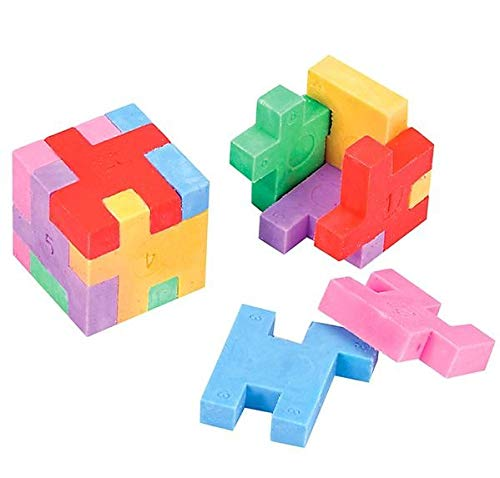 Rhode Island Novelty Puzzle Cube Erasers - 12 Count