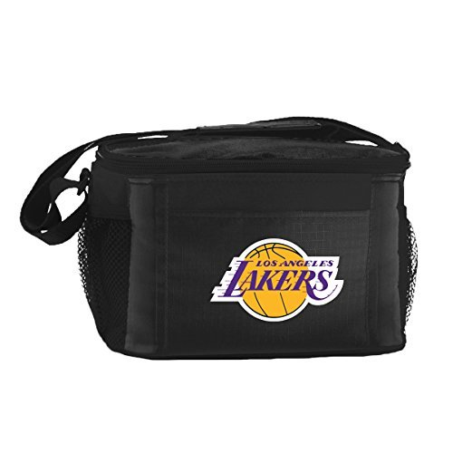 Kolder NBA Los Angeles Lakers Insulated Lunch Cooler Bag with Zipper Closure, Black