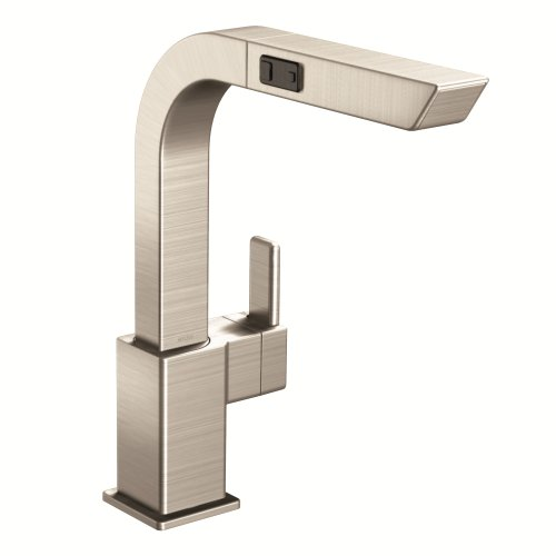 Moen S7597SRS 90-Degree One-Handle High Arc Pullout Kitchen Faucet, Spot Resist Stainless