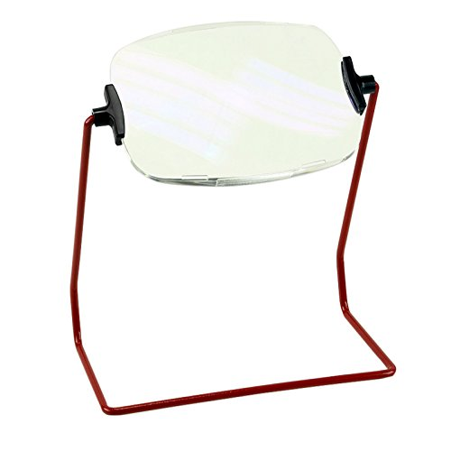 Unbreakable, Scratch-Resistant 2X Thick Magnifier & Stand - Swivels 360 Degrees - Great for (Lumiloupe Stand Magnifiers)