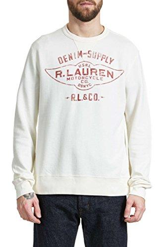 Pull Denim & Supply Ralph Lauren Ecru Homme