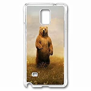 Bear Custom Back Phone Case for Samsung Galaxy Note 4 PC Material Transparent -1210264