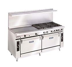 Imperial Commercial Restaurant Range 72 With 4 Burners 48 Griddle 2 Standard Ovens Nat Gas Ir 4 G48