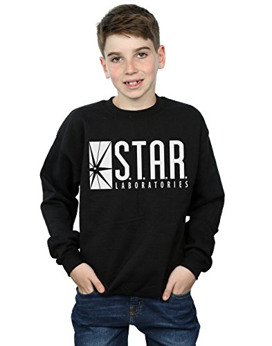 DC Comics Boys The Flash Star Labs Sweatshirt 5-6 Years Black -