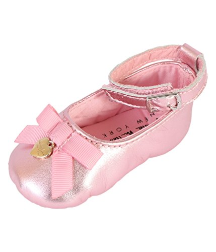 Nicole Miller New York Baby Girls Mary Jane Crib Dress Shoe (Infant), Blush, 0-6 Months'