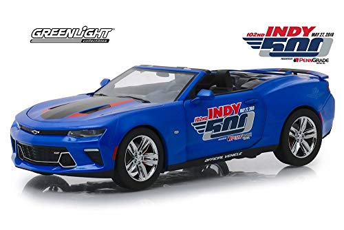 2018 Chevy Camaro SS Convertible, 102 Running Indy 500 Presented by PennGrade Motor Oil 500 Festival Event Car - Greenlight 18248 - 1/24 Scale Diecast Model Toy Car ()