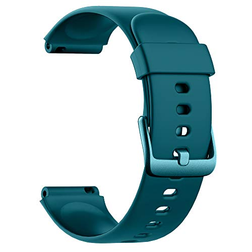Soft Silicone Smart Watch Bands Replacement Straps Bands for Willful SW021 ID205L/SW025 ID205S Smart Watch (Green)