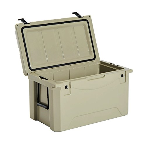 Outsunny 85 Quart Rotomolded Outdoor Portable Camping Cooler and Ice Chest Box
