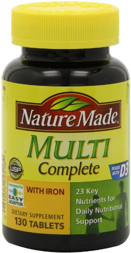NATURE MADE - MULTI COMPLETE WITH IRON - MULTIVITAMINES ENIRICHIES EN FER