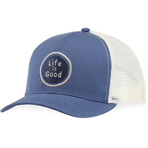 Life Good Winter Hats - Life is good Hard Mesh Back Hat Lig Circle, Vintage Blue, One Size