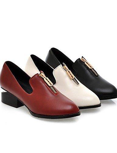 us7 Cn39 us8 negro Eu39 Comfort Eu38 Red Mujer Zq De Uk6 Casual Planos Exterior Uk5 5 Semicuero Black Cn38 Robusto Puntiagudos Oficina Vestido Tacón 5 Zapatos Trabajo Y ZUBUTR