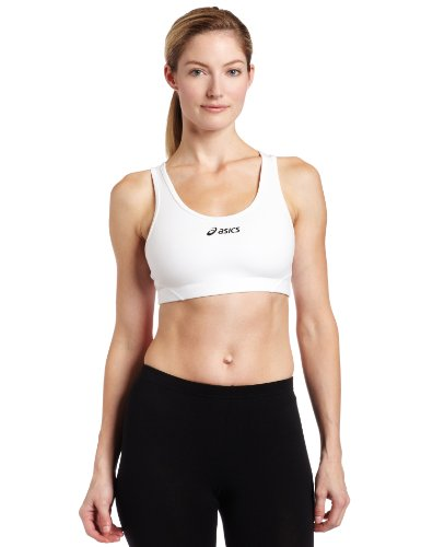 ASICS Women's Team Core Bra Top, White, Large
