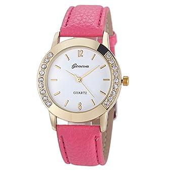 Amazon.com: Womens Watch,Geneva Diamond Analog Wristwatch Leather Quartz Party Wrist Watch Axchongery (Black): Cell Phones & Accessories