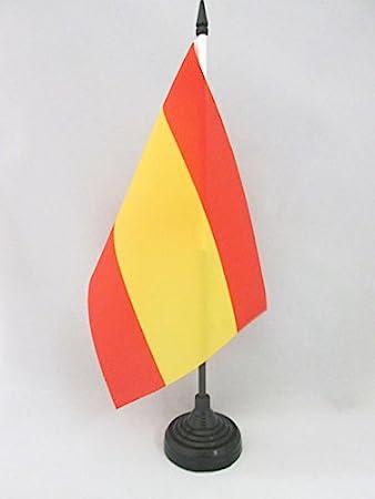 AZ FLAG Bandera de Mesa de ESPAÑA SIN Armas 21x14cm - BANDERINA de DESPACHO ESPAÑOLA SIN Escudo 14 x 21 cm: Amazon.es: Hogar