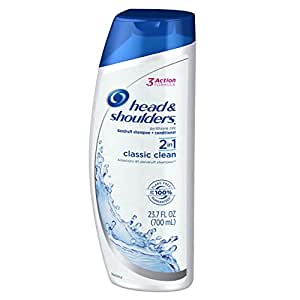 Head and Shoulders Classic Clean 2-in-1 Anti-Dandruff Shampoo + Conditioner (2 Pack)