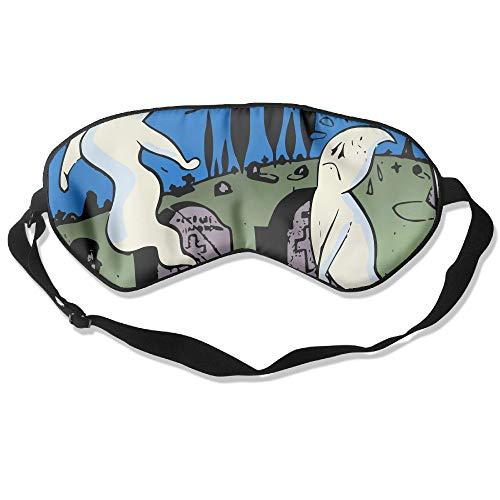 Grave Reject Ghost Silk Sleep Eye Mask Flexible