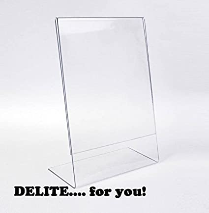 DELITE Acrylic   8 X 6 Inch Photo Frame Sign Message Stand Display Holder ,  Set