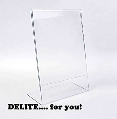 Buy Cheap A5 Menu Stand Counter Cashier Desk Sign Holder Menu Stand Plastic Frame Photo Frame Advertising Food Poster Frame Price Display Card Holder & Note Holder