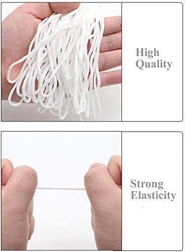 50 Meters Elastic Band Handmade Strap White Earloop Cord Ear Tie Rope for Sewing