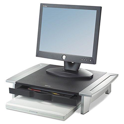 "Price comparison product image Fellowes 8031101 Monitor Riser,Adjustable,19-7/8""x14-1/16""x4""-6-1/2"",BK/SR"