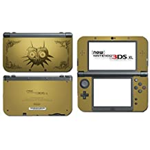 Legend of Zelda Majora's Mask Special Edition Gold Video Game Vinyl Decal Skin Sticker Cover for the New Nintendo 3DS XL LL 2015 System Console Model: (Electronics Consumer Store)
