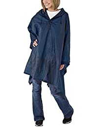 Hooded Pullover Rain Poncho with Side Snaps