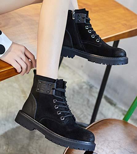 Liangxie Impermeabili Stivali Pelle Militari Escursionismo Vento Caviglia In Nero Donna Rabbaro Scarpe Smerigliati Alla Da Del Sportive wAYXqYrxU