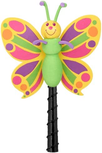 Fits Thick Fat Style Antenna Tenna Tops Butterfly Car Antenna Topper//Mirror Dangler//Desktop Spring Stand