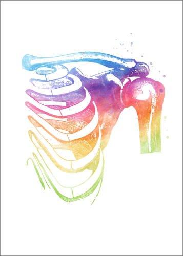 Hartschaumbild 120 x 170 cm: Regenbogen Schultern von Mod Pop Deco