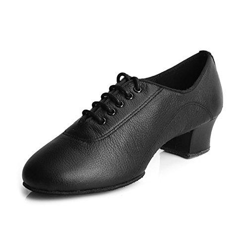 Scarpe Da Ballo Latino In Pelle Da Donna Per Roymall / Scarpe Da Salsa / Scarpe Da Ballo Da Sala, Modello Af50 Black-3