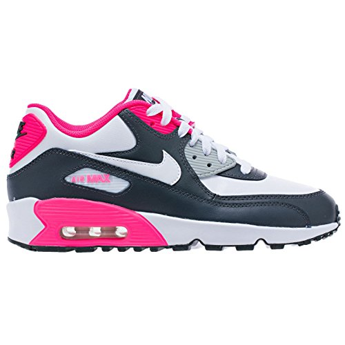 NIKE Air Max 90 Letter Big Kids Style Shoes : 833376, Anthracite/White-Hyper Pink-Metallic Silver, 5.5 by NIKE
