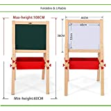 KIDS EASEL CHALK DRAWING BOARD DOUBLE SIDED (AGE 3+) WITH ACCESSORIES