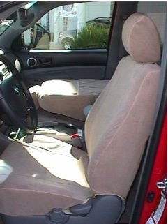 Cover Toyota Interior Tan (Durafit Seat Covers, T914-Tan Toyota Tacoma SR5 Front Bucket Seat Covers in Tan Velour)