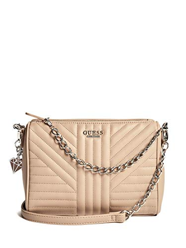 GUESS Factory Women's Marisol Quilted Crossbody - Tan Quilted Bag